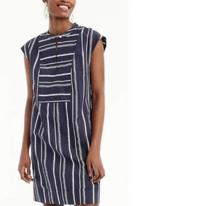J Crew Petite easy tunic dress in striped poplin